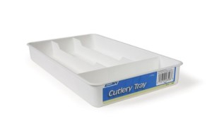 white Cutlery Trays
