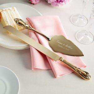 Vintage Wedding Cake Server And Knife